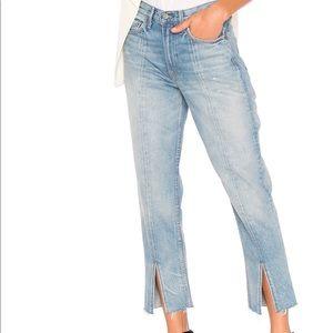 Grlfrnd Front Slit Jeans